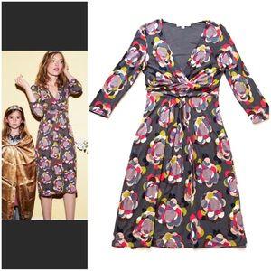 Boden Faux Wrap Mod Floral Jersey Dress